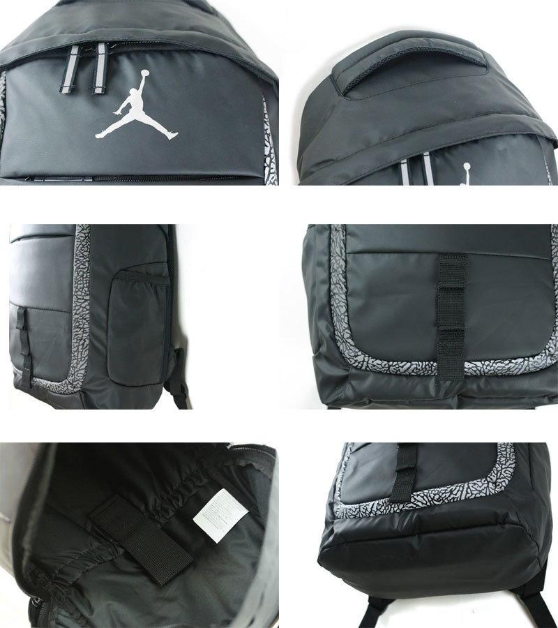 NIKE ナイキJORDAN JET BACK PACKジョーダン ジェット バックパックBLACK(ブラック)リュック 男女兼用 ジャンプマン ロゴ バスケ 黒