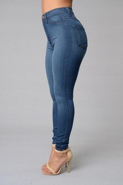 女性ファッションセクシージーンズトレンドリップデニムジーンズ