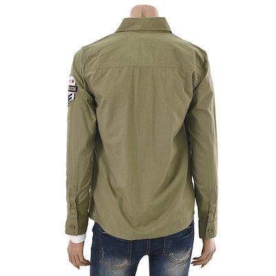 JEEP[SAY公式ストア]【JEEP】50%セールTAPE装飾のロールアップスタイルコットンシャツ(JH1SHU203)ホワイト