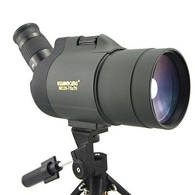 Visionking 25-75x70 Maksutovスポッティングスコープ100%防水Bak4(三脚付き)(グリーン)