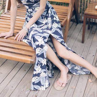 背中見せ ロング マキシワンピース サマードレス ボタニカル 花柄 カジュアル リゾート 夏 20代 30代 40代 新作 服 レディース アパレル