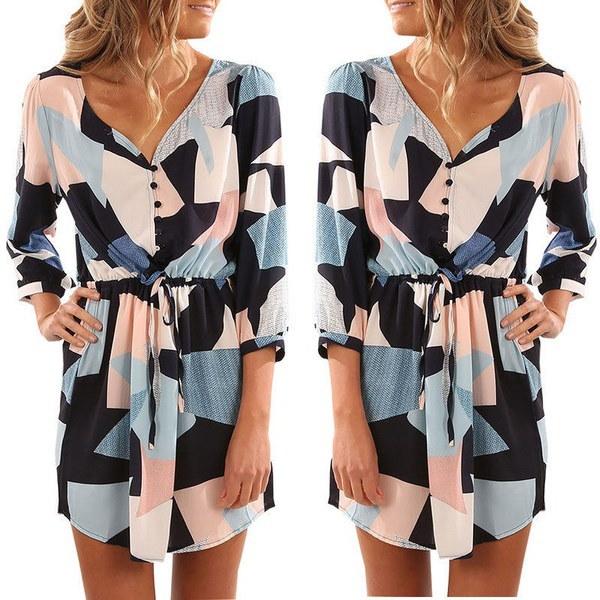 女性セクシーな夏の包帯ブラウスイブニングパーティーカクテルカジュアルショートミニドレス