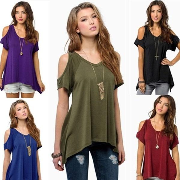 UPUP 9色の女性の半袖カジュアルソリッドトップスTシャツブラウス