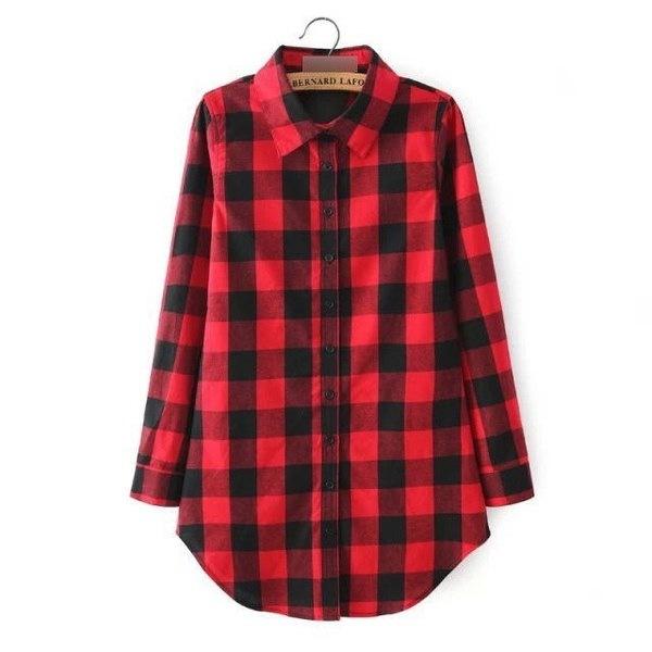 ファッション女性長袖ブラウスのチェック柄プリントシャツシングルブレストコットンシャツ