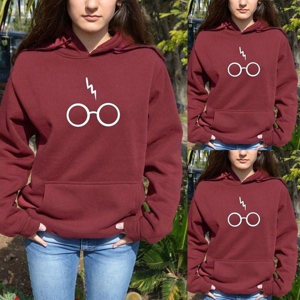 ハリー・ポッターHoddie HoodyメガネHogwarts同窓生BOOKタイトルセーター・スウェットシャツ