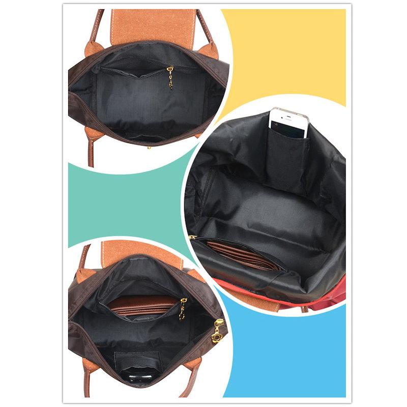 ナイロントートバッグ 手提げバッグ ファスナー付き キャンバス スウェット生地 マザーバッグ  キャンバストートバッグ レディース マザーズバッグ コンパクトショルダーバッグ 斜めがけ A4 肩掛け