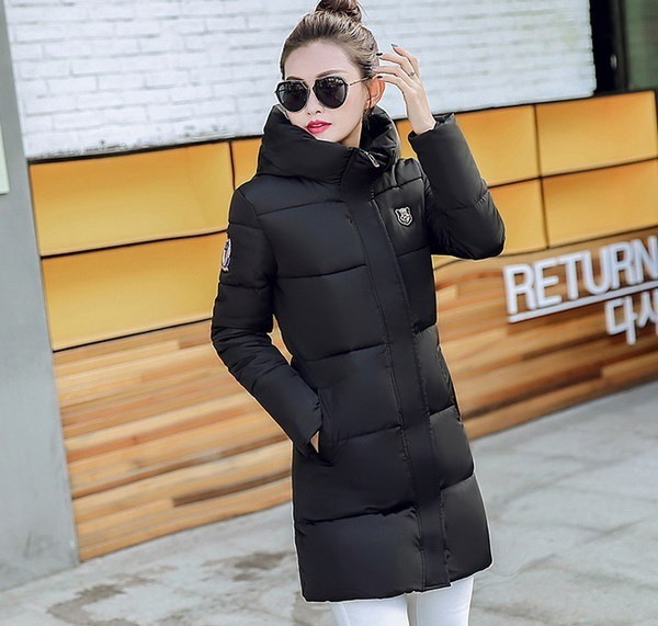 Woemnファッション暖かいロングパーカー女性の冬シックニングコットンウィンタージャケットアウター