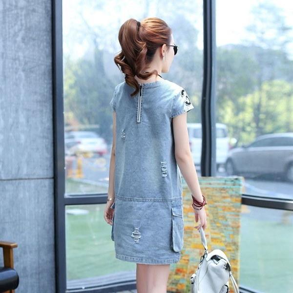 Women s Plus Size Fit Denim Dresses D80