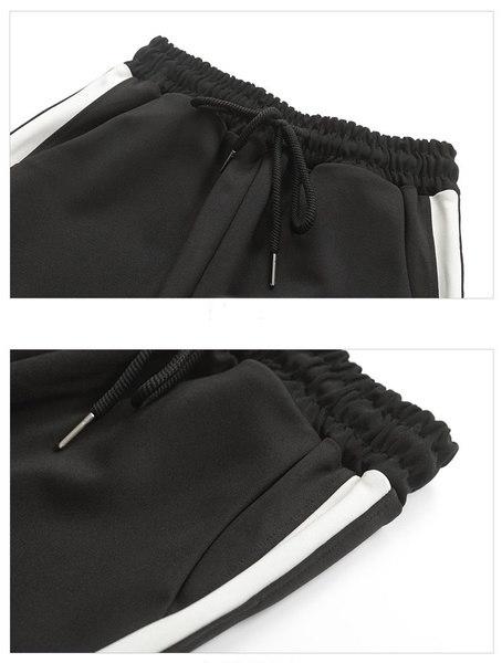 e83f1a344033 ファッション女性のサイドストライプスーツパンツブラックカジュアル ...