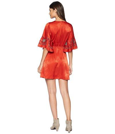 ムーンリバー レディース ワンピース トップス Embroidery Wrap Dress