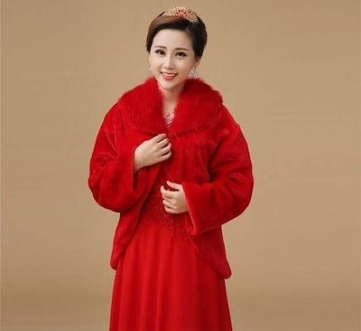 花嫁コート 長袖 防寒 ポンポン ウェディングドレス小物 ポンポン 厚手 ケープ ショール スイート礼服 XCPJ08