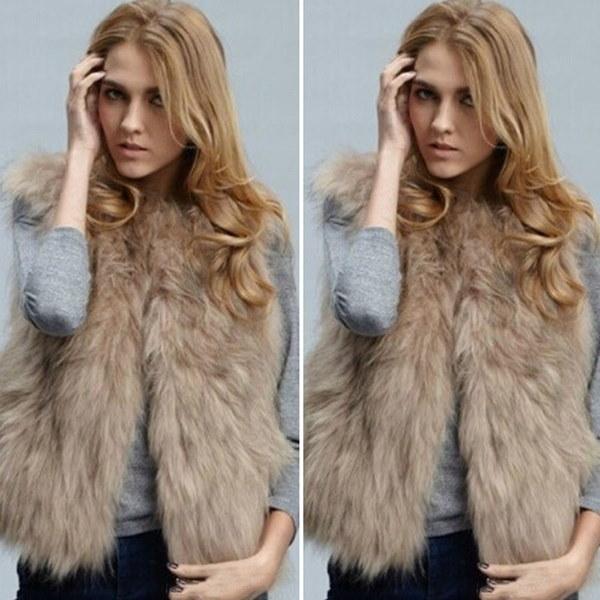 秋の冬のラグジュアリーファッションカジュアル女性フェイクファーのベストショートデザイン毛皮のワイシャツのカーディガン