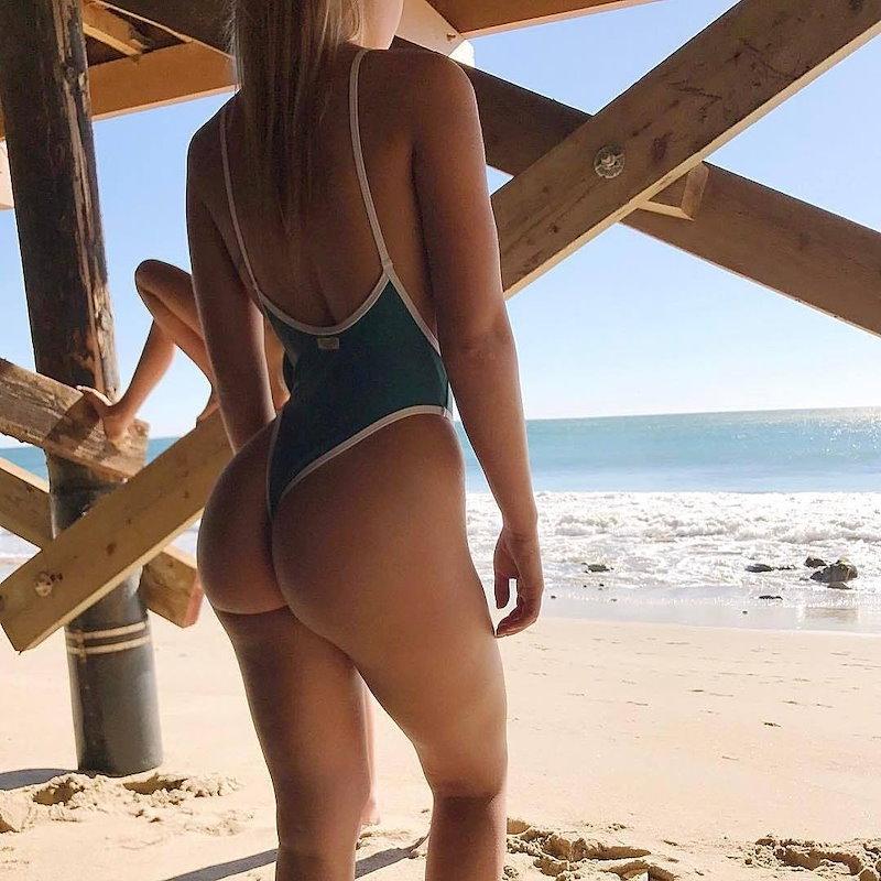 セクシーな女性ワンピースパッキンビキニMonokini水着Backless水着ビーチウェア