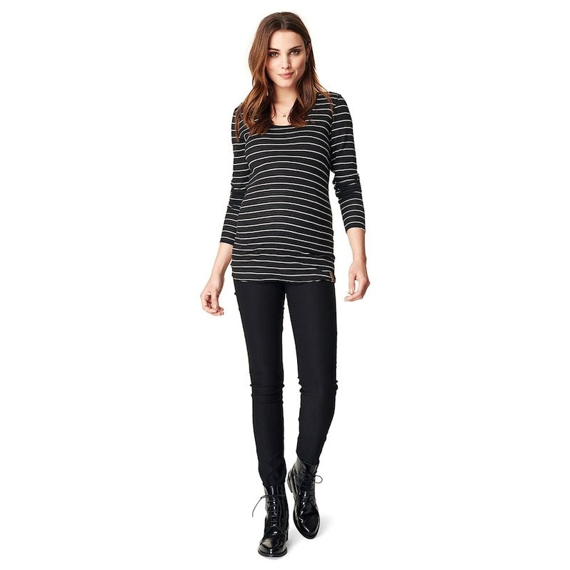 ノッピーズ レディース トップス ブラウス・シャツ【Ivy Stripe Maternity Shirt】Black