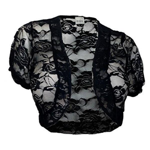 2017シアークロップド半袖ボレロ肩掛け