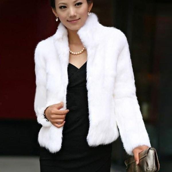 Zanzea新しい女性厚い暖かい偽のファージャケットレディースコートアウトウェアエレガントなロングスリーブオーバーコート