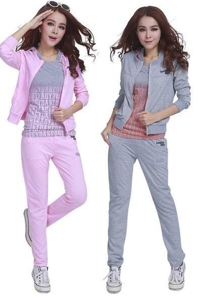 ファッションスポーツトラックスーツ女性の最新女性のためのジョギングスーツ3ピースセットコート+トップス+パンツレター