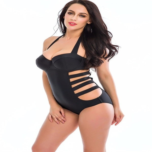 包帯水着ビキニ女性ホルター水着水着をプッシュアップワンピース水着大きなサイズXL、XXL、X