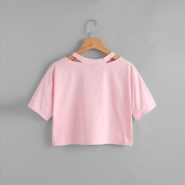 レディースカジュアルTシャツ半袖Vネックローズプリントベストトップスブラウス