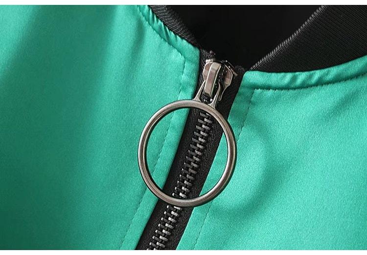 欧米レトロな刺繍ジャケット野球ユニフォーム原宿BF風緩いカジュアルなショートコート