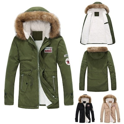 Men Women Winter Warm Trench Coat Fur Hooded Couple Jacket Parka Overcoat Padded