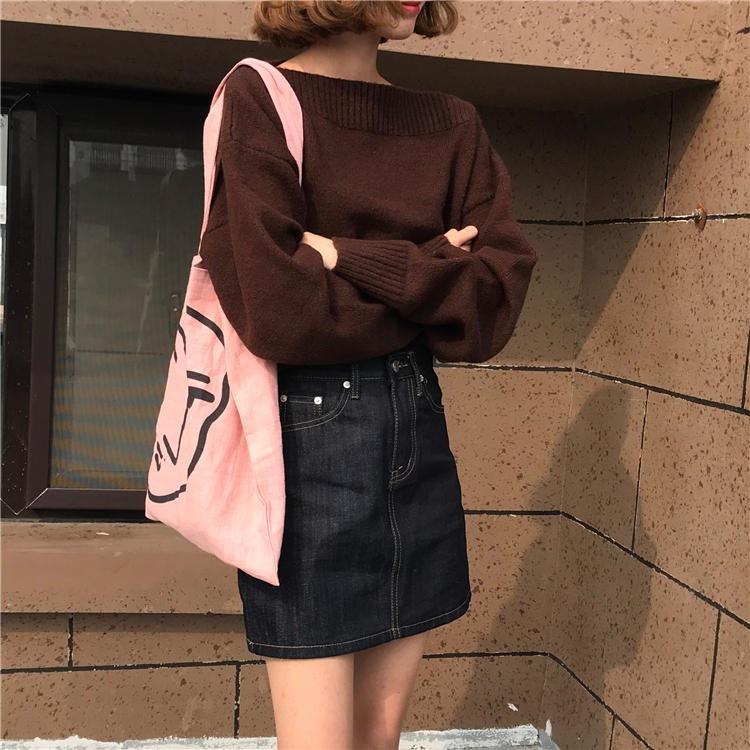 裏/小/秋冬/女性服/韓国風/ルース/手厚い/首輪/ヘッジ/セーター/アウターウェア