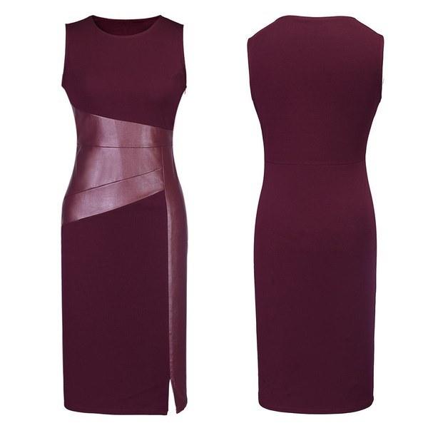 新しいセクシーな女性ノースリーブスリムファッションボディコンパーティーカクテルイブニングドレス