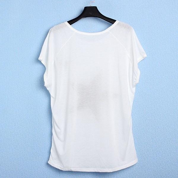 新しいレディースガールズオーバーサイズバギースター半袖トップスラウンドネックTシャツSML XL