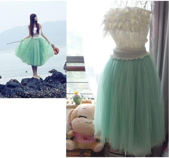 新しいファッション女性の女の子の王女の妖精のスタイル5層チュールドレスブーファントスカート