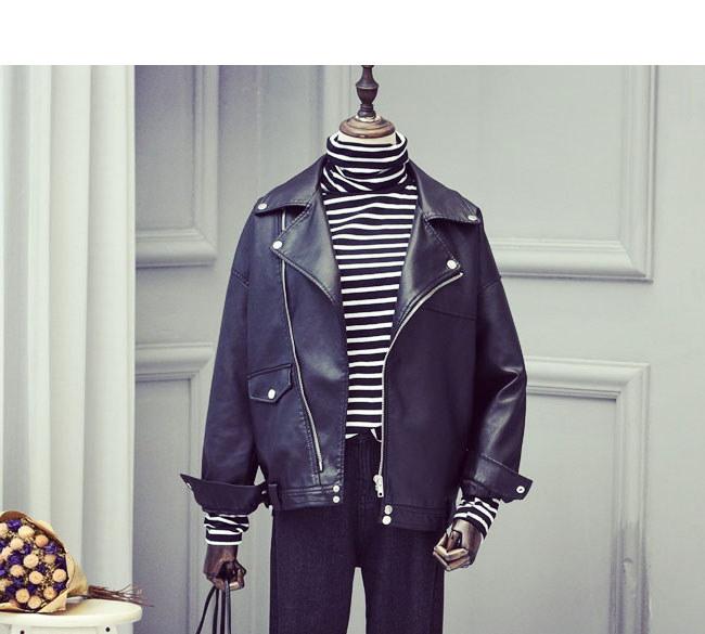 レディス服 女性 アウター コート 上着 ジャケット オーバー スタジャン ファッション 韓国風 オーバーサイズ カジュアル ベーシック 本革風 ラペル 秋服 抜け感 コーデ