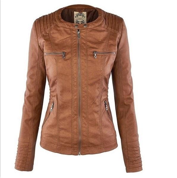 女性の取り外し可能な長袖ラペルジッパージャケット(5色XS-XXL)
