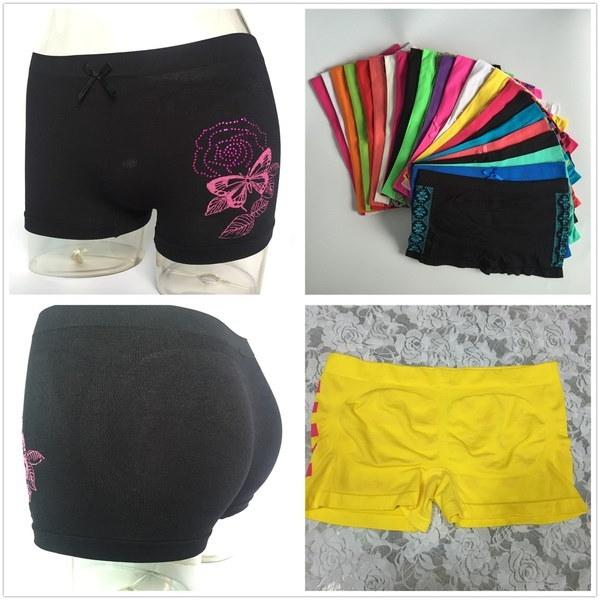 New Summer Women Sports Gym Workout Waistband Skinny Yoga Shorts Pants Soft Multicolored Panties Box