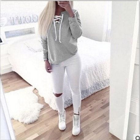 セクシーシャイニーリーフファッション女性スウェットジッパーロングスリーブカジュアルブラウスコットンソリッドプルオーバースウェー