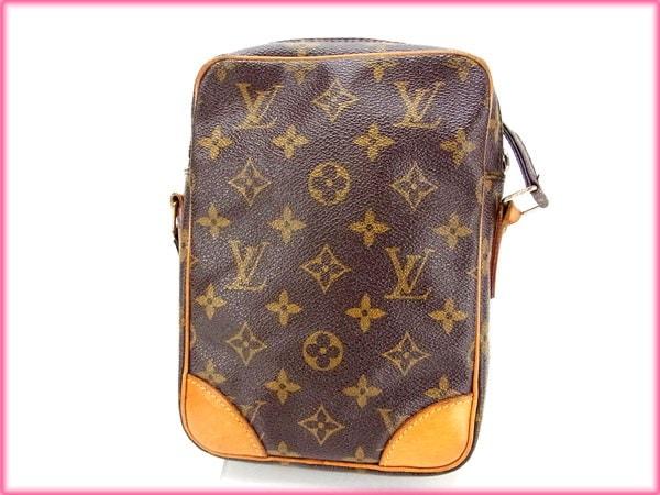 ルイヴィトン Louis Vuitton ショルダーバッグ /斜めがけショルダー /メンズ可 /ダヌーブ モノグラム M45266 ブラウン モノグラムキャンバス (あす楽対応)(激安・即納)【中古】