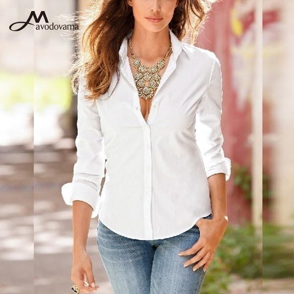 新しいファッション女性のブラウスロングスリーブオフィスシャツカジュアルトップス