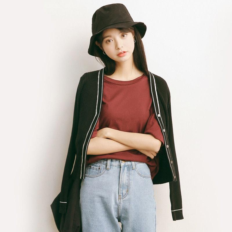 【送料無料】春夏 2017 新作 カーディガン ニットカーディガン レディース ニット ブラック 韓国ファッション