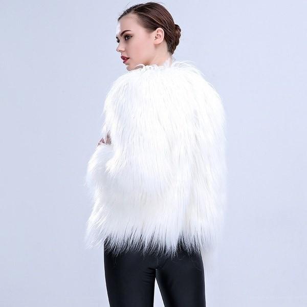 女性のLEDファーコートステージコスチュームLEDナイトクラブクリスマスのアウトレット女性ダンサーのスタージャケット
