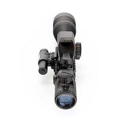 ohhunt 4-12X50EG ライフルスコープ 照準器 ドットサイト 3in1(レーザーと赤のドット)
