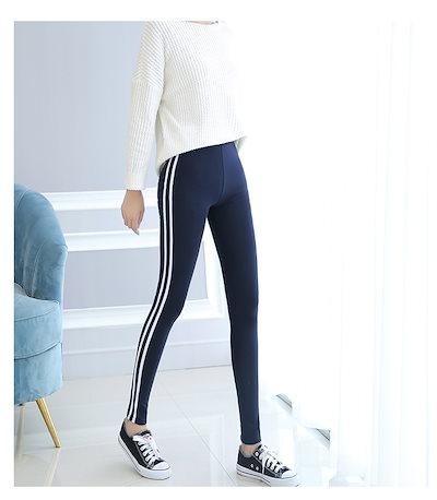 オルチャンファッション レギンス 韓国ファッション スポーティー 送込! ライン カジュアル レディース スパッツ オルチャン 4色