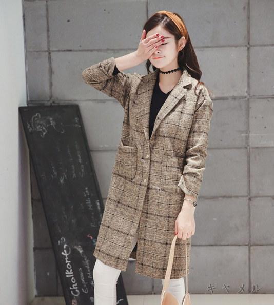 春夏人気のレディースファッションがお買い得 魅力を引き立せる お買い得♪プチプライスファッション ゆったりチェック柄ダッフルコート★全2色
