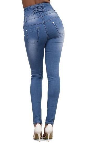 2016スキニー細いハイウエストペンシルパンツ女性弾性セクシーなデニムジーンズパンツS  -  XXL NZ51