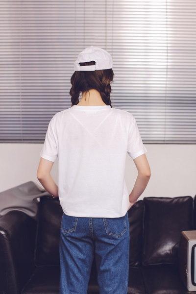 S-4XL 3色プラスサイズレディースキャットプリントポケット半袖コットンTシャツ