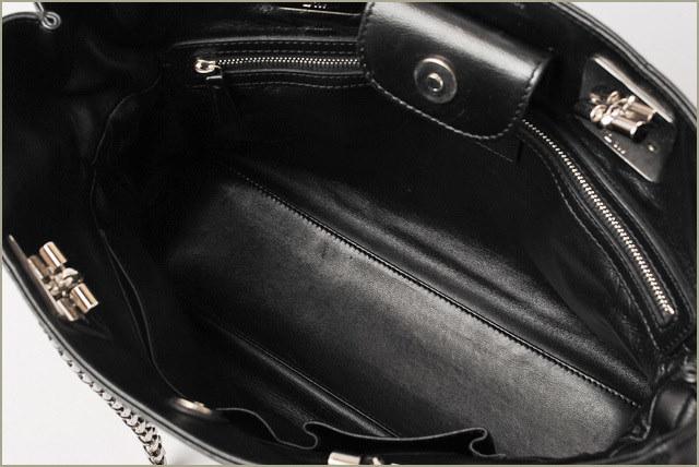 ディオール レディ ディオール ショルダーバッグ Christian Dior カナージュ トートバッグ ブラック ラムスキン【中古】