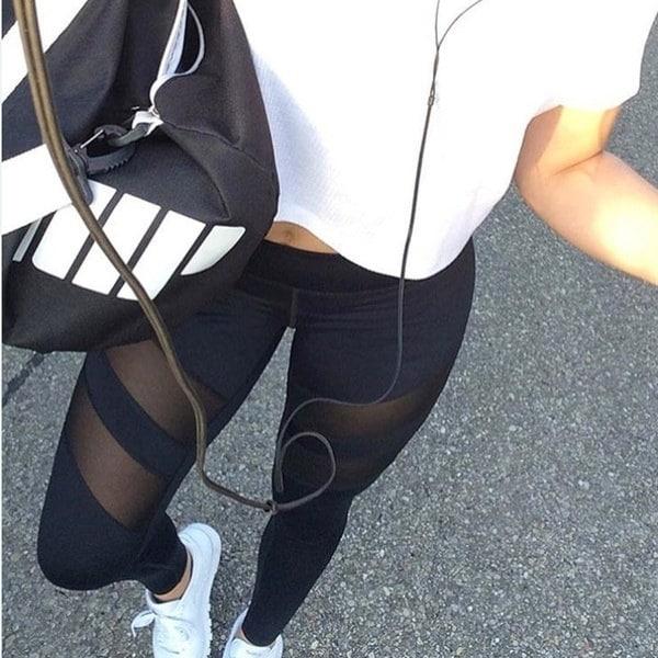 レディースハイウエストメッシュレディースレギンスフィットネス通気性レギンスプッシュアップ女性速乾ハイクオリティ
