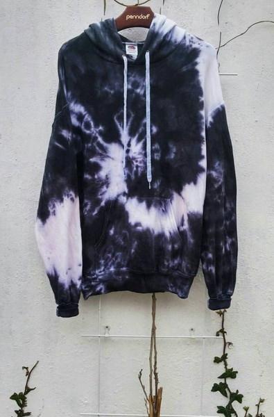 女性のファッションプラスサイズカジュアルタイ染料プリントプルオーバースエットシャツパーカーZH5703