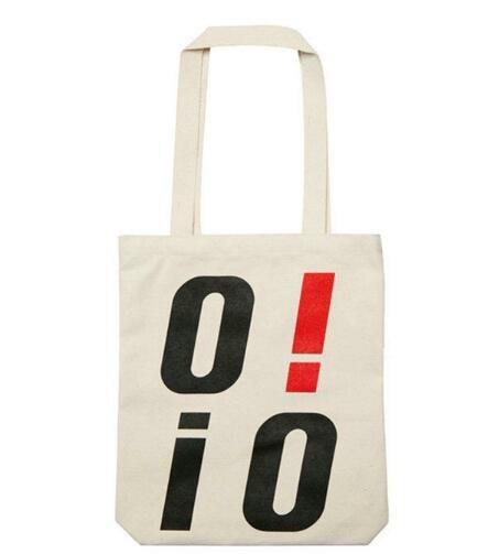 【おまけ付き】ECO BAG-BLACK ★ オアイオアイ 韓国 レディース トート ロゴ バッグ エコバッグ ショルダーバッグ ショッピングバッグ カバン ママバッグ韓国ファッション鞄