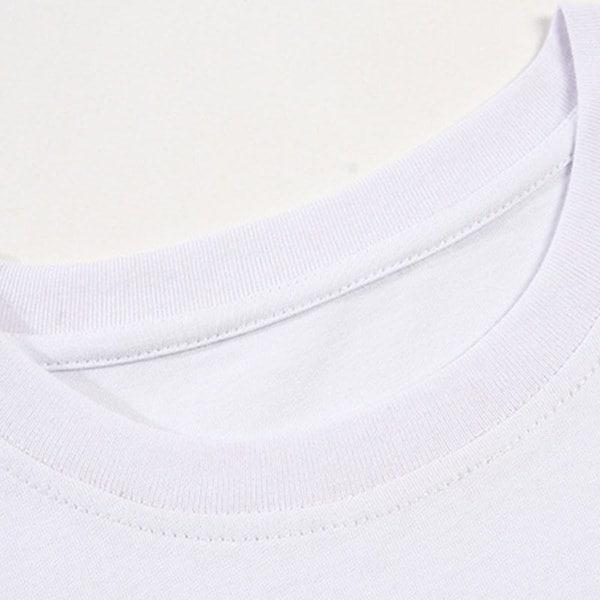 ダビングパンダプリントファッション女性夏半袖OネックトップTシャツカジュアルホワイトグラフィックTシャツ