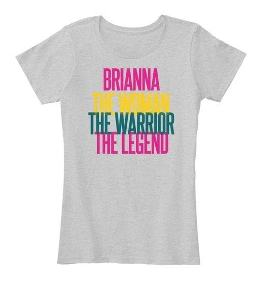 Brianna   The Woman The Warrior Women s Premium Tee