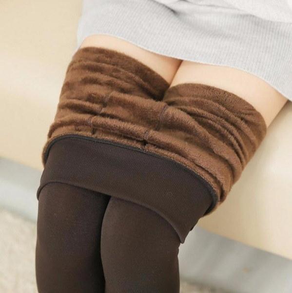新しいファッションウォーム女性女性の女の子ハイウエストスリムフィットズボンプラスカシミアズボンズボンズレ