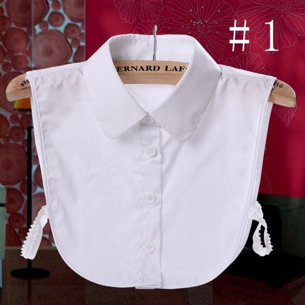 レディースFalse Collar偽ハーフシャツブラウスカラーVintage取り外し可能Bib Collar